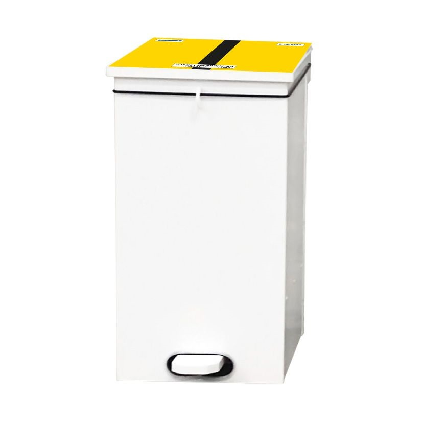 Yellow Black Bin